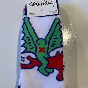 NEW Men's Keith Haring Socks